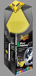 Vanteiden ja metallipintojen hoitosarja - Meguiar`s  	 Brilliant Solutions Wheel Polishing Kit